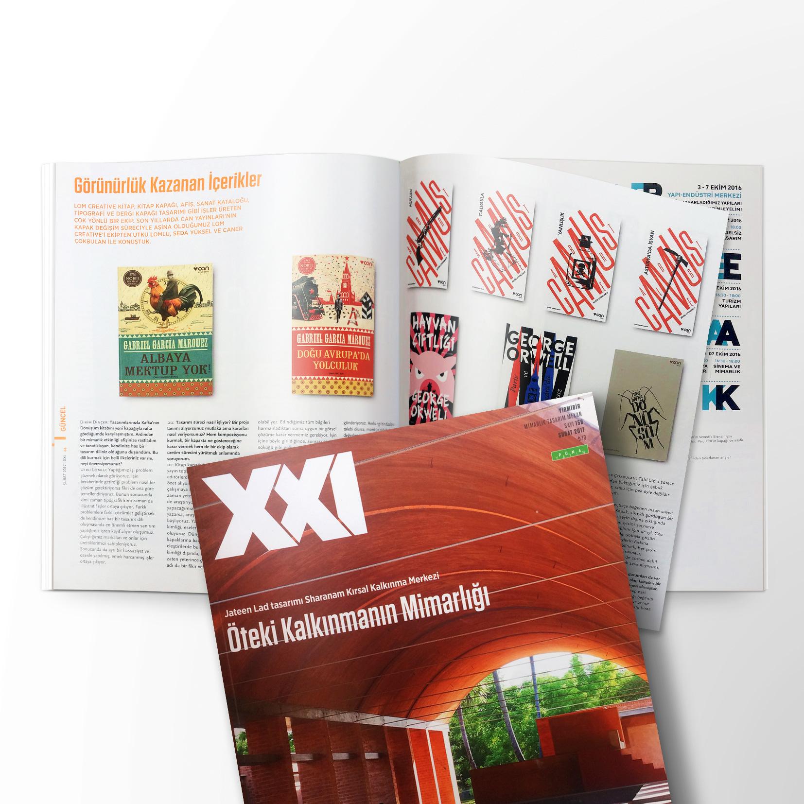 XXI dergisi son sayısında Lom Creative'i tanıttı.